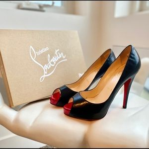 Christian Louboutin black Prive peep heels - 37.5